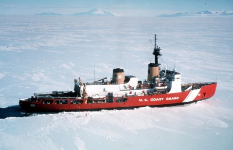 The 399-foot Polar Star. Top of the line in icebreakers 1977-2010. However, note no visable weapons. For scientific missions these are not needed. However for soverignty missions, are a must.