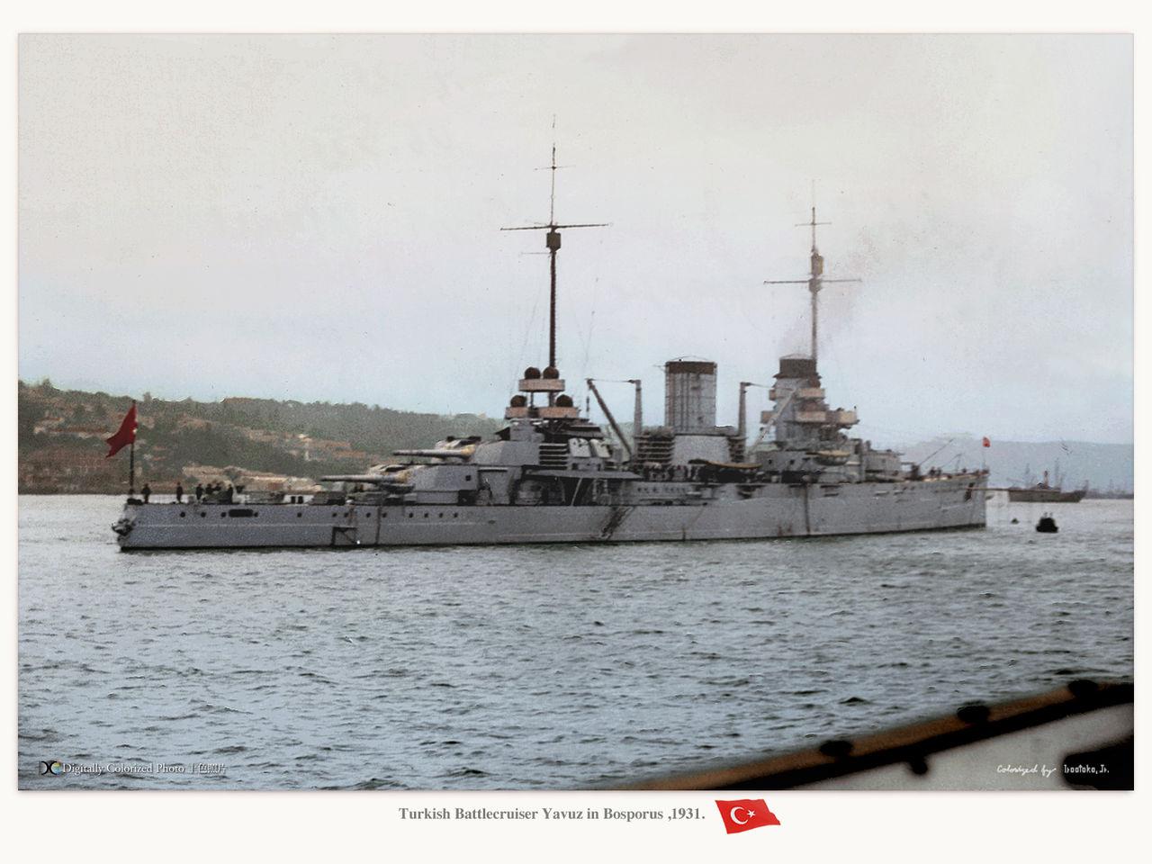 Battleship Yavuz in 1931
