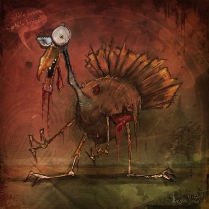 Image result for zombie thanksgiving