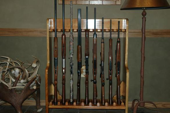 wood gun rack plans free