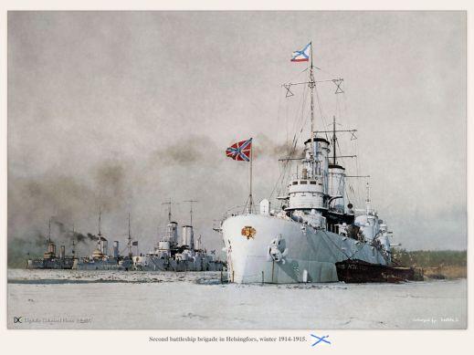 Second battleship brigade in Helsingfors, winter 1914-1915