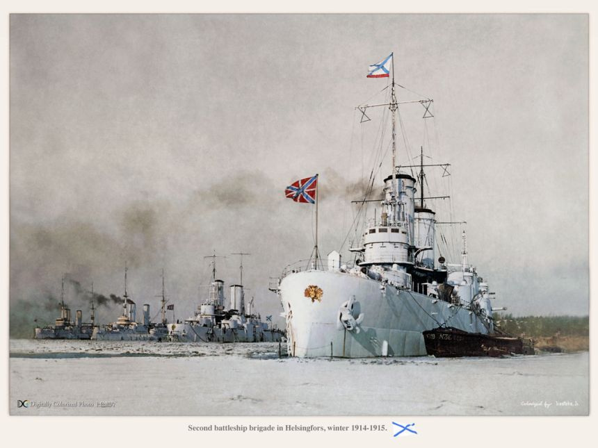 Second battleship brigade in Helsingfors, winter 1914-1915