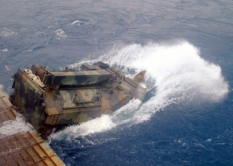 800px-US_Navy_020912-N-8087H-005_AAV_launches_from_the_well_deck