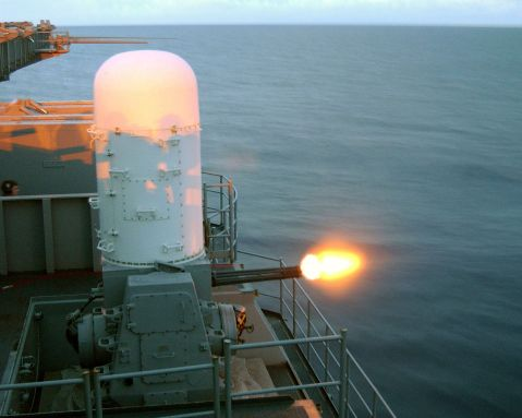 1280px-US_Navy_030114-N-3911W-501_Phalanx_MK-15_Close_In_Weapons_Systems_(CIWS)_fires_a_high-speed_computer_controlled,_radar_guided,_20_mm_Gatling_gun_