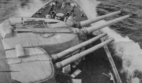 Built on hulls that were only about the size of today's frigates, the Gustav carried an armarment larger than any gun armed cruiser. It included four large 11-inch guns and 8 smaller 5.9-inchers.