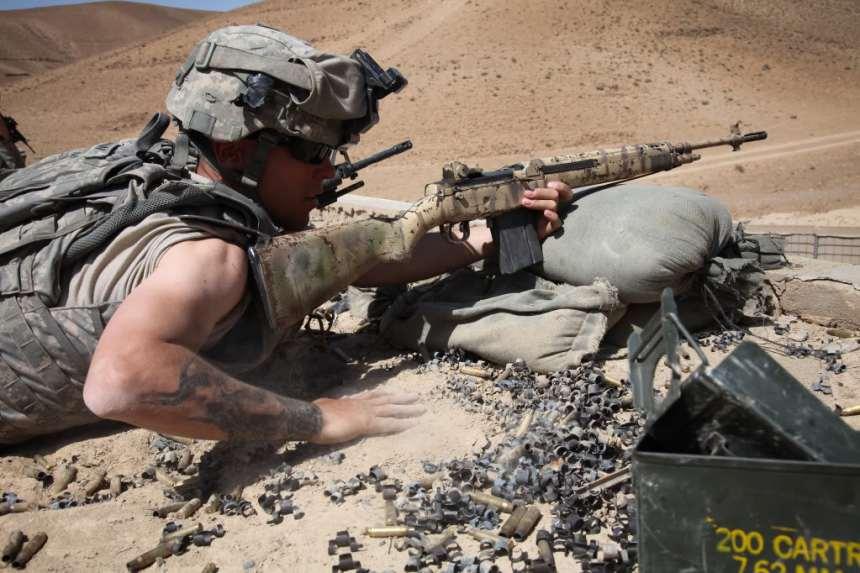 m14 ebr seeing hard service afghanistan 2013