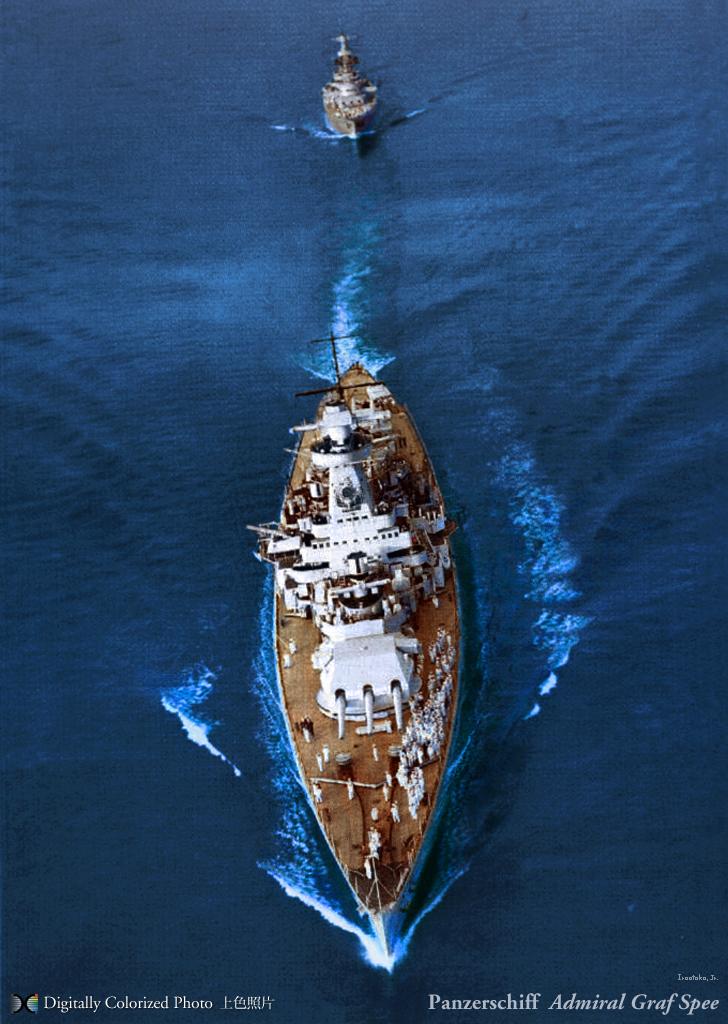 Kriegsmarine Panzerschiff Admiral Graf Spee im Spithead U.K. 1937