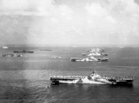 Murderers Row at Ulithi atoll was the target of two submarines and six floatplanes.