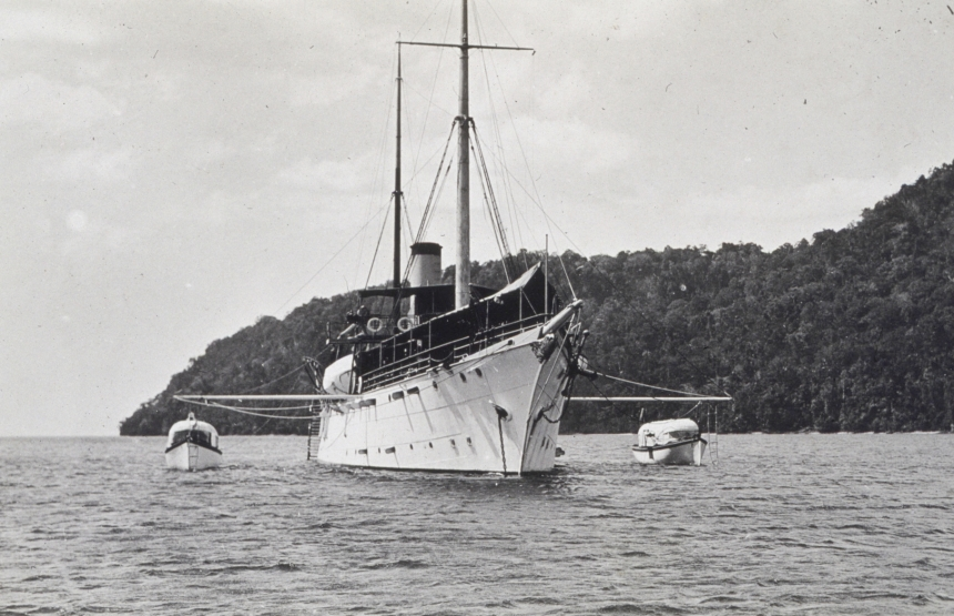 Survey work involved several ship's launches moving in a line along with ashore teams equiped with surveyors tools for making precise measurements. Some of the charts made from surveys done by  Pathfinder are still in use today.