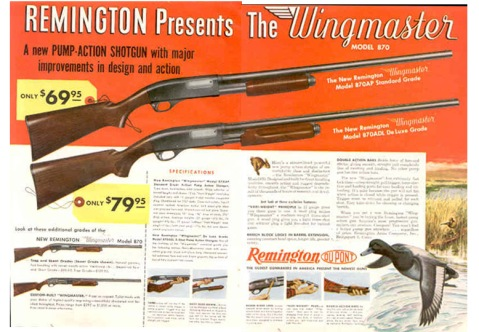 remington wingmaster ad