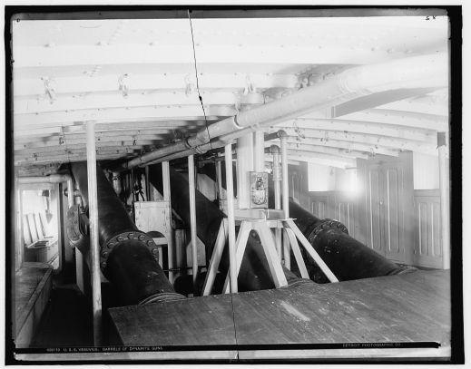 02 deck view of the dynamite guns