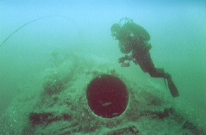 Today the U853 is a popular dive, lying in just 120 feet of water 11 miles off the US East Coast. You can thank the USS Atherton for putting her there.