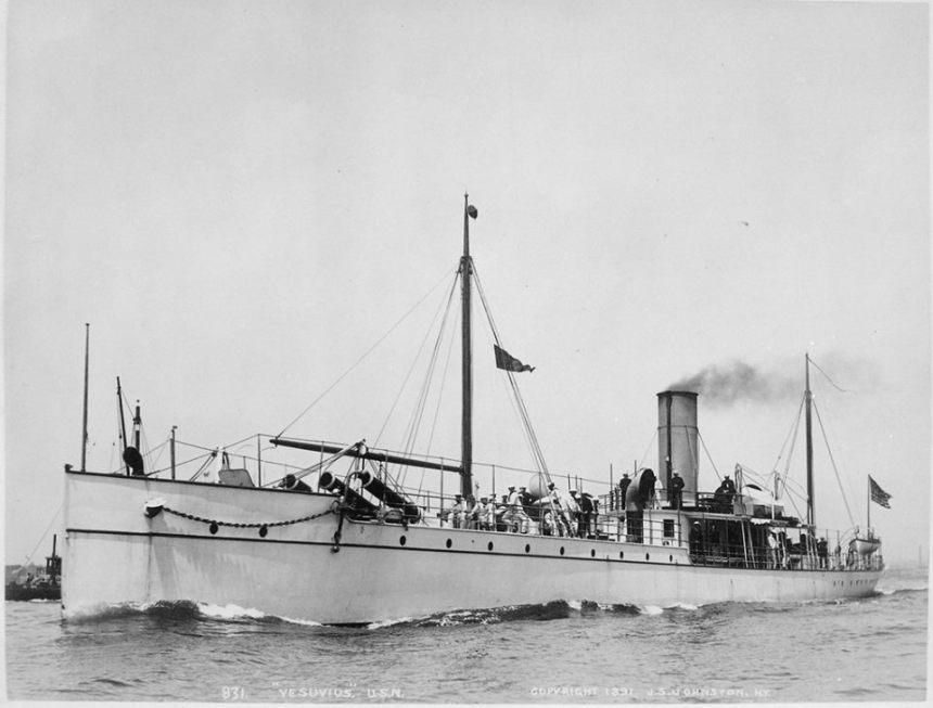 Uss Vesuvius dynamite gun carrier