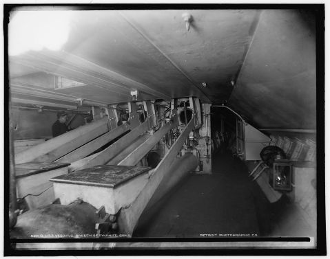 The breeches started at the keel, three decks below....