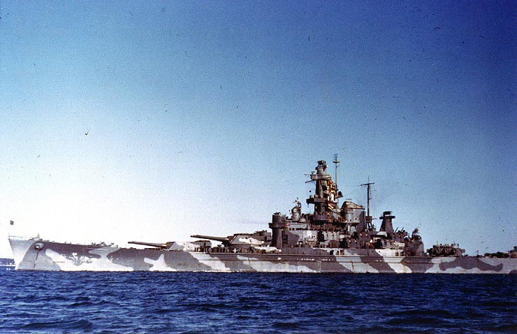 Compare this picture of the USS Alabama, a brand new SoDak class battleship in 1943 compared to the refurbished Wee Vee at the top of this post...