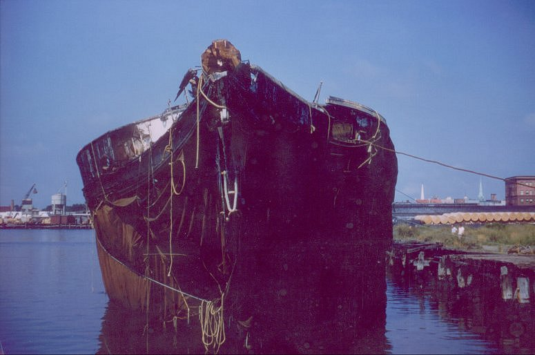 Forgotten and neglected, the Hartford settled in the muck along the Virgina coast and sank in 1956, right at 100 years after her keel was laid.