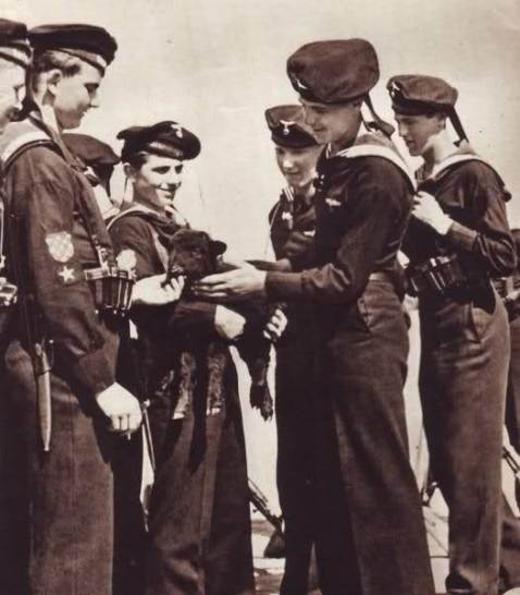 The Croatian Naval Legion wore German Kreigsmarine uniforms with a Croat checkerboard emblem on the sleeve. These Adriatic sailors lived and fought from the Tovarish for nearly two years