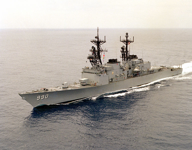 The USS Ingersoll, DD-990 was a good example of how the Spru-cans came out of Pascagoula in the 1980s. She is armed here with just her guns, torpedoes, ASROC and a Sea Sparrow launcher. Bring on the Red Banner Fleet!