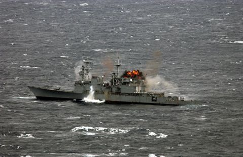 Like Megatron and Osama Bin Laden, most of the Spruances were sunk in deep water. Here the USS Hayler, DD-997, commissioned in 1983, being sunk as a target on 13 November 2004. Most 21 year old ships are still in service. Her story is typical of her class.