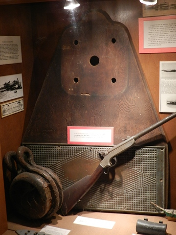 The deck-plate that Farragut stood on before ascending the rigging of the Hartford, preserved at the Fort Gaines museum.
