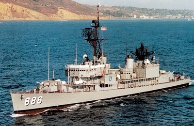 The USS Orleck, shown here in 1964, a WWII veteran still going strong, by the 1970s needed replaced