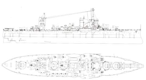 After 1944 refit, she was a completely different ship.