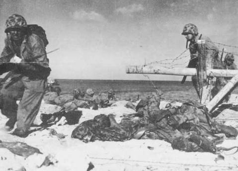 The Battle of Tarawa (US code name Operation Galvanic) was one of the bloodiest of the Pacific T/O during WWII.  Nearly 6,400 Japanese, Koreans, and Americans died in the fighting, mostly on and around the small island of Betio. Many have never been recovered