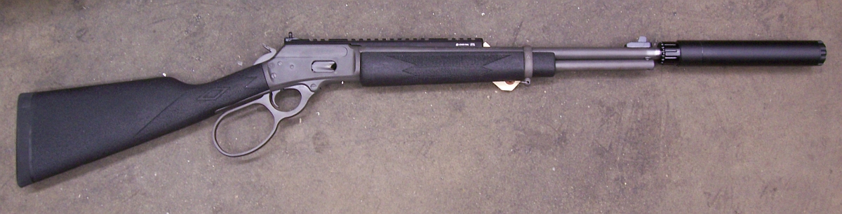 ... Guns tuned Marlin 1894 with Thompson Machine Isis-2 9mm suppressor
