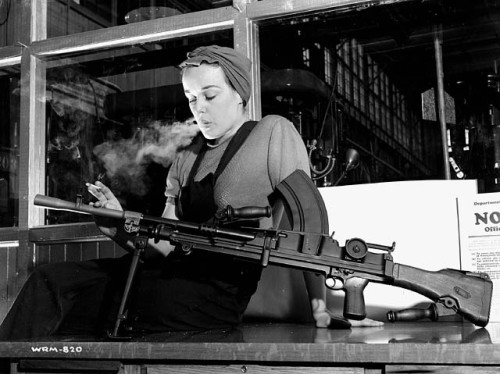 (The WWII Bren gun was about as old-school sexy as you could get)