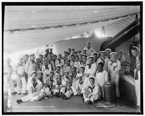 BB-2 sailors in summer whites