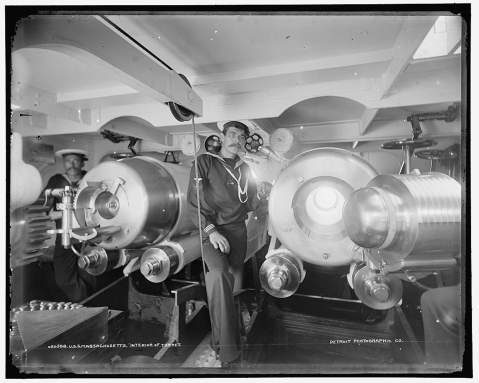 Inside one of her turrets