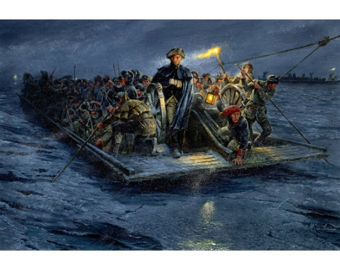 Washington crossing the Deleware, a more accurate version.