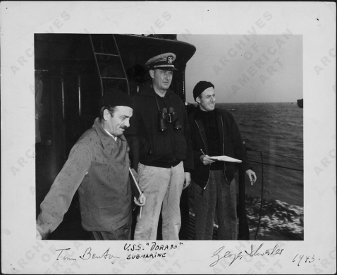 Schreiber and Benton along with the Dorado's skipper, Sept 1943