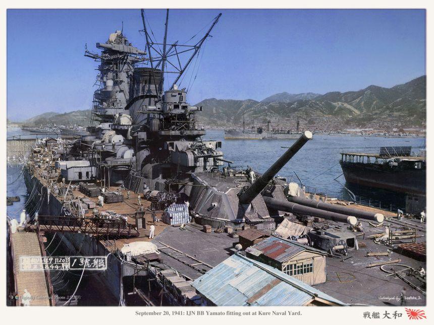 IJN Yamoto 1941 Kure