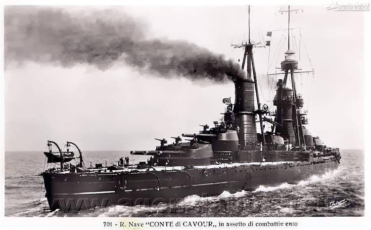 3621C_RN_Conte_di_Cavour_1911_foto_Falzone_Collez- Ernesto-Burzagli-1930