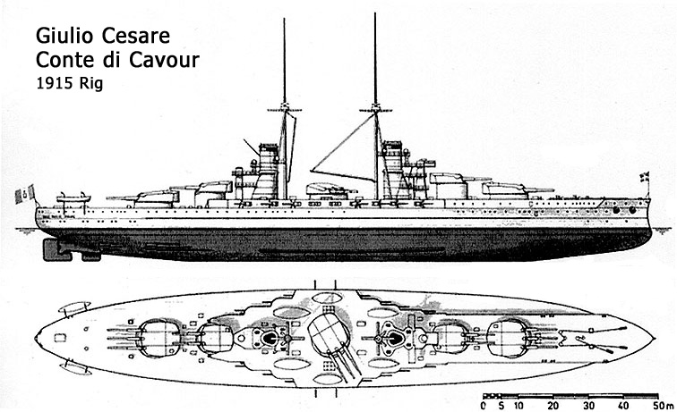 Note the center turret