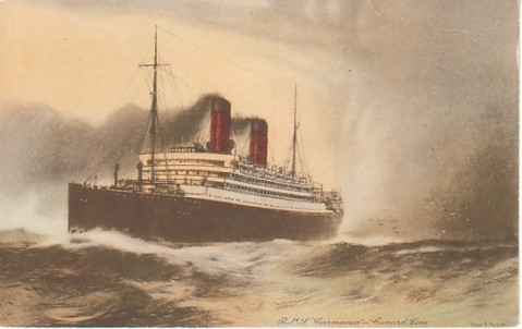 The real RMS Carmania, that the German ship assumed the identity of.