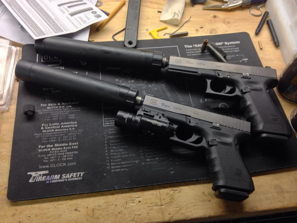 suppressed glocks