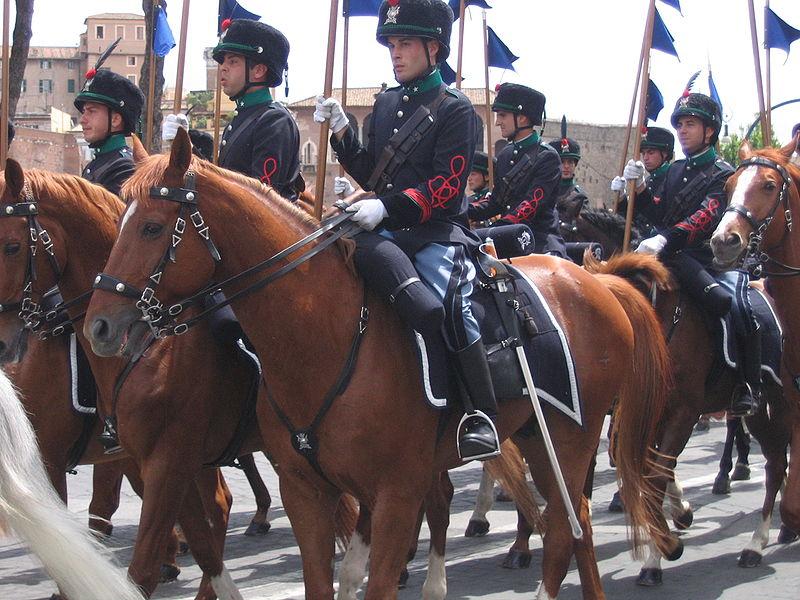Lancieri di Montebello cerimonal troops