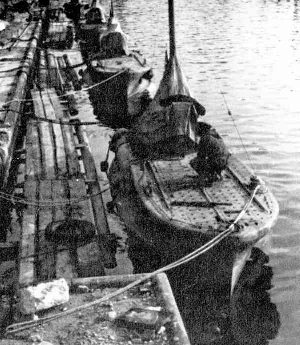CB sub moored at Sevastopol 1942