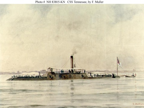 Watercolor by F. Muller, circa 1900. Courtesy of the U.S. Navy Art Collection, Washington, D.C.