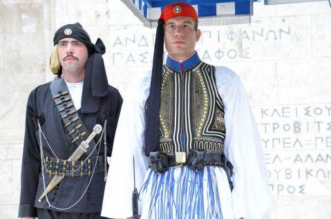 Evzones regular uniform and the Black Uniform of Pontos