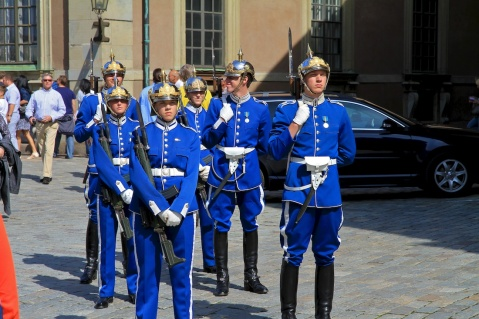 The Royal Guards in Sweden are a little less formal than what you find at Buckingham. I mean come on, they have been at peace since 1814