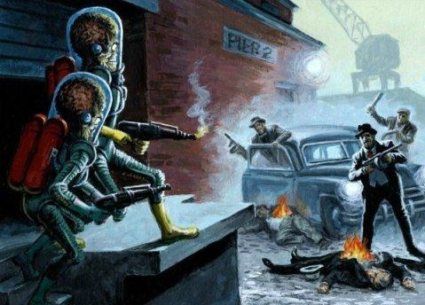 Mars-Attacks-Invasion-Gangster-Squad-Topps-Earl-Norem