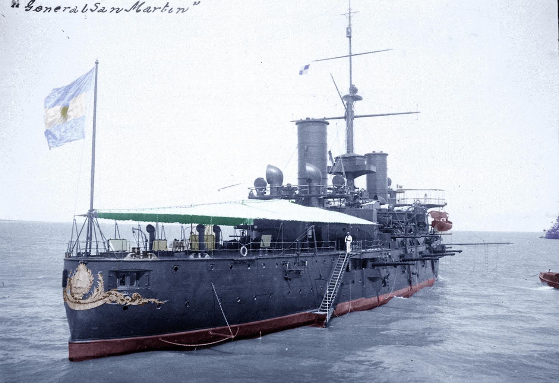 San Martin, croiseur de la classe garibaldi, retiré en 1934