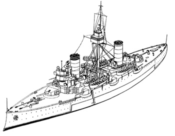 One large 10-inch gun fore and another aft gave these ships some punch.