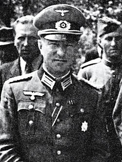 General Smyslovskiy, in German service