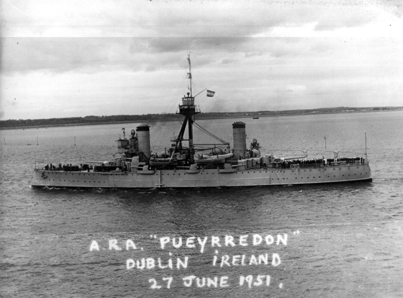 ARA Pueyrredon in Dublin in 1951. At this point this pre-SpanAm War vet was pushing her sixth decade at sea.