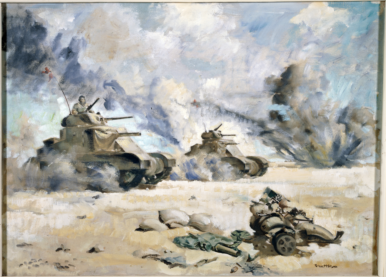 The Grants go into action - El Alamein