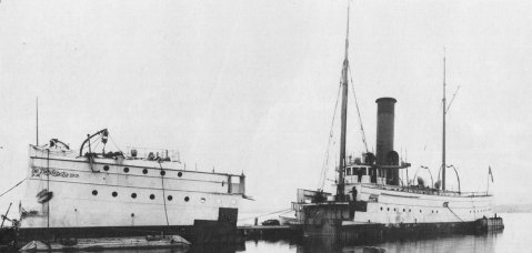 Gresham cut cleanly in two and barged through the St. Lawrence locks. Her other two sisters were subjected to the same fate.
